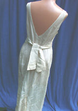 Vintage 30s 40s  Satin Gown Nightgown BIAS M  Lingerie Bridal