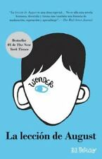 La Leccion de August: Wonder (Spanish-Language Edition) (Paperback or Softback)