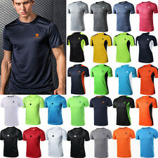 Men's Breathable Quick Dry T Shirt Wicking Running Gym Top Sports Football Train
