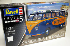 Revell Germany 1/24 VW T1 Samba Bus Lufthansa Plastic Model Kit 07436
