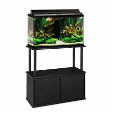 Aquatic Fundamentals Black Aquarium Stand with Storage - for 20 and 29 Gallon