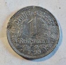 3. Deutsches Reich - 1 Reichsmark - 1933 A - ENTWERTET - selten  (1918