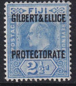 GILBERT AND ELLICE ISLANDS - EVII - 2½d ultramarine-Sg4- lightly mounted mint