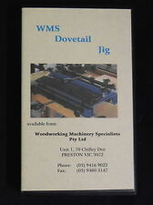 WMS Dovetail Joints Jig Vintage VIDEO Manual Woodworking Tools & Machinery VHS