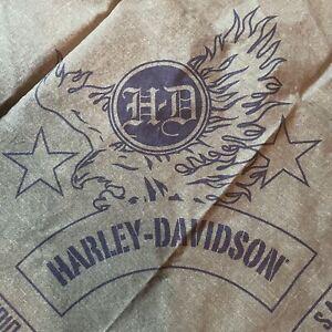 "Lot of 2 Harley Davidson Salutes The Military Bandana, Olive Green  21"" 2010 EUC"