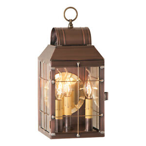 Irvin's Country Tinware Martha's Wall Lantern in Antique Copper