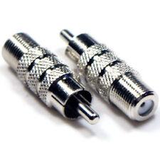Cables y adaptadores de video coaxiales Conector F hembra para TV y Home Audio