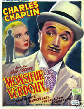 Monsieur Verdoux Charlie Chaplin vintage movie poster print