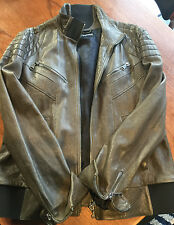 Dolce & Gabbana Couture Leather Jacket Size 54