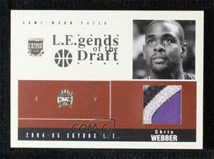 2004-05 Skybox LE LEgends of the Draft Without Serial Number Chris Webber Patch