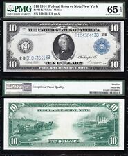 Amazing Bold Crisp GEM UNC 1914 $10 NEW YORK Fed Reserve Note! PMG 65 EPQ! 6413B