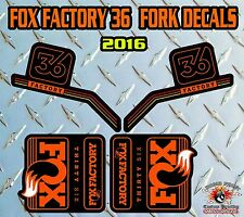 Fox FACTORY 36 2016 FORK Stickers Decals Graphics Mountain Bike Down Hill MTB