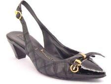 New BCBGMAXAZRIA Women Leather Slingback Pump Heel Pointy Toe Sandal Shoe Sz 6 M