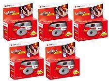 5x AgfaPhoto LeBox Flash 400 Asa Einwegkamera Hochzeit 27 Aufnahmen Blitz