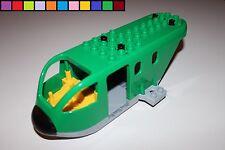 Lego Duplo - Frachtflugzeug - Rumpf ohne Zubehör - grün gelb - aus 5594
