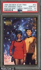 1994 Skybox Star Trek Master Series Crew Triptych #F3 Original Crew PSA 10 POP 1