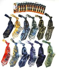 12 Mens TERRA Maker of Frank Lloyd Wright Silk Tie Wholesale Lot NWT Made in USA