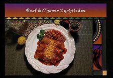 Recipe postcard US Beef & Cheese Enchiladas