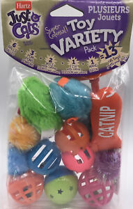 Cat Toys Hartz Just For Cats Variety 13 Pack Encourages Activity Hunt Swat Play