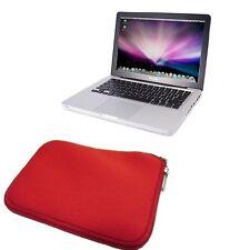 """FUNDA DE NEOPRENO bolsa con cremallera para MacBook Pro 13 pulgadas 13"""" roja"""