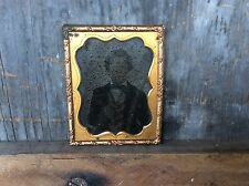 Antique Tin Type Small Picture Of A Man In A Suit
