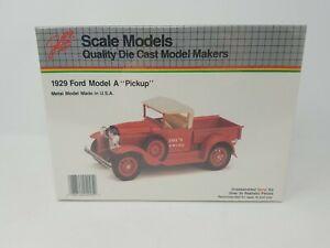 JLE 1929 Ford Model A Pickup 1/20 Scale Die Cast Metal Model Kit #4005 Sealed