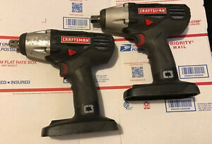 2 craftsman 19.2 1/2 impact wrenches Bare Tools  Good Working Condition