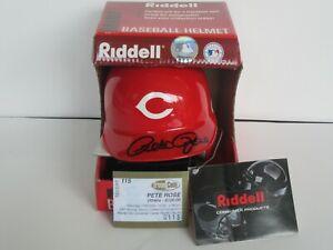 Pete Rose Autographed Signed Cincinnati Reds Riddell Mini Helmet