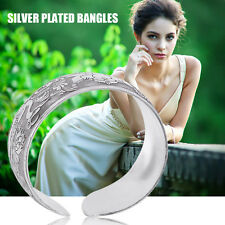 Fashionable Vintage Women Lady National Style Silver Plated Bangle Jewelry DY GA