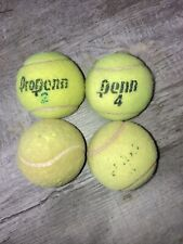 New listing 4 used Tennis Balls - Dog Toys, Baseball, Walker Feet Penn Wilson