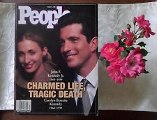 Jackie John Kennedy Jr Carolyn Bessette Life Death 1999 magazine MANY photos