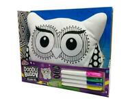 OWL DOODLE BUDDY PILLOW PAL COLOUR YOUR OWN CUSHION CHILDRENS TOY GIFT 15-2926