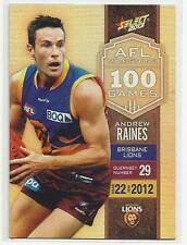 2013 AFL SELECT CHAMPIONS MILESTONE GAME MG08 Andrew Raines Brisbane LIONS CARD