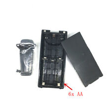 Battery Case Box 6*AA for Icom IC-V8 IC-F31GS IC-F3GS IC-F11 With Belt Clip