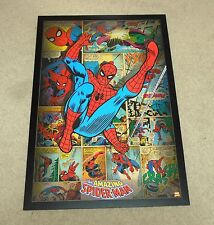 "Marvel Amazing Spiderman Mega 38"" X 26""Wooden Poster RARE NEW Spider-Man"
