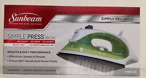 Sunbeam Simple Press 1100 Watt Compact Anti-Drip Non-Stick Soleplate Iron
