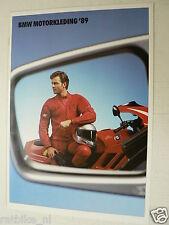 FN592 BROCHURE BMW MOTORKLEDING 1989 DUTCH 16 PAGES,PROTEX K1,GORE-TEX,ENDURO