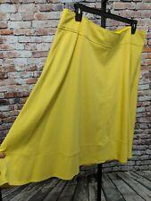 Lane Bryant Womens Plus 20 Yellow/Lime Modernist A Line Stretch Skirt Pockets