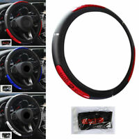 15 inch Universal Car Steering Wheel Cover Protector Glove PU Perforated Leather