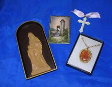 4 Vtg Mitte Jahrhundert 1st Kommunion Katholische Religion Plastik Geschenk