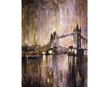 Tower Bridge in London, England.  Fine art watercolor painting (print)