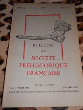 BULLETIN DE LA SOCIÉTÉ PRÉHISTORIQUE FRANÇAISE - Tome LX, 1963, fascicule 7-8