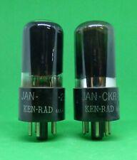 Vintage NOS Pair Ken Rad  25L6 GT/G Tested 100%