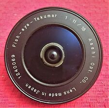 "ASAHI M42 F/11 18MM FISH-EYE-TAKUMAR ""PANCAKE"" ULTRA WIDE ANGLE LENS  - MINT"