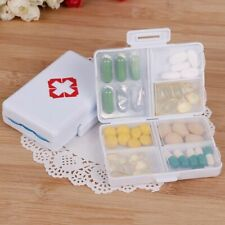 Mini Pill Box Travel Case For Tablet Pill Drugs Storage Folding Light Container