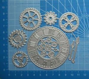 Craft / Cardmaking Metal Cutting Dies - Steam Punk Clock & Cogs Die Cutter