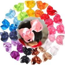 16Pc Baby Girls 6 Inch Big Hair Bows Clip Glitter Cheer Bow Alligator Hair Clips