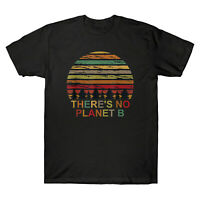 Earth Day There Is No Planet B Vintage Men's T-Shirt Retro Short Sleeve Tee