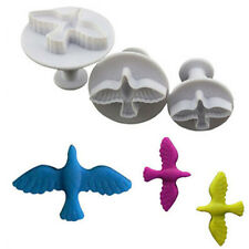 3PCs/ Set Pigeon Bird Pattern Cake Decorating Plastic Sugar Craft Cookies Cutter