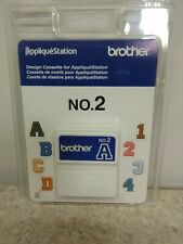Brother Applique Station No. 2 Letters And Numbers Design Cassette